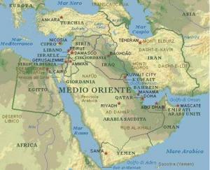 Medio Oriente Cartina Fisica.Il Medio Oriente Appunti