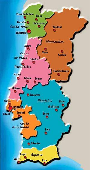 Cartina Fisica E Politica Del Portogallo.Portogallo Appunti