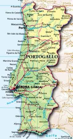 Portogallo Fisica Cartina.Portogallo Appunti